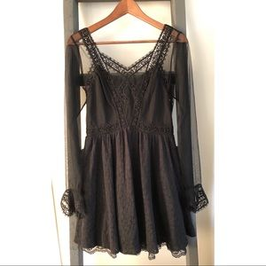 Free People Lace Bell Sleeve Dress